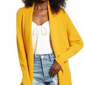 Leith Dolman Sleeve Long Cardigan Yellow Mineral